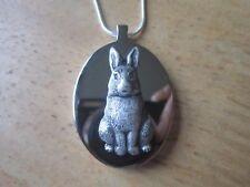 STAINLESS STEEL BUNNY RABBIT URN NECKLACE -MOURNING, ASHES, LOCK OF HAIR, FUR