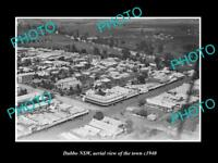 OLD LARGE HISTORIC PHOTO OF DUBBO NSW, AERIAL VIEW OF THE TOWN c1940 1
