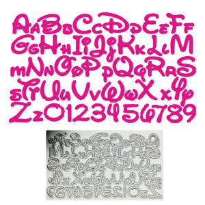 Stanzschablone Cutting dies Alphabet Buchstaben + Zahlen Letters + Numbers DE