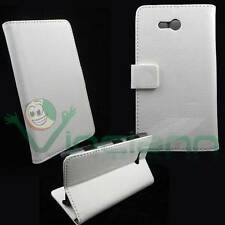 Custodia eco pelle morbida BOOK BIANCA per Nokia Lumia 820 libretto cover case