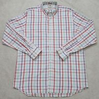 Boden White Dress Shirt 17 XL Extra Large Long Sleeve Striped Pocket Men's 1-12