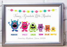 Personalised  monster print Christmas Gift Mummy,Daddy, Nanny Aunt, Grandparent.