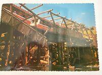 Glamortram Collapsing Bridge Universal Studios Unposted Souvenir Postcard