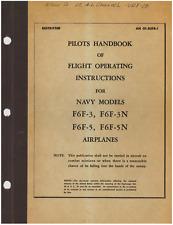 WWII Grumman F6F Hellcat Pilot Handbook Flight Aircraft Warbird Manual CD COPY