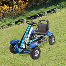 Kinbor Kids Pedal Go Kart Racing Cart Children Ride On Toy 4 Wheels Outdoor Blue