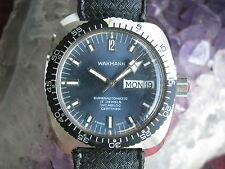 Breitling Wakmann Vintage Stainless Steel Automatic Dive Sport Wrist Watch
