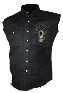 SPIRAL Tribal Death Worker Hemd ärmellos Gothic Skull