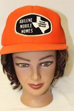 Abilene Mobile Homes Orange Patch Baseball Trucker Mesh Cap Hat Snapback
