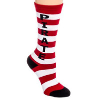 Gumball Poodle Kids Pirate Crew Socks Red White Stripes FREE POSTAGE Fun Funky