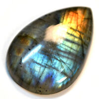 Cts 56.20 Natural Double Shade Fire Labradorite Cab pear Cabochon Loose Gemstone