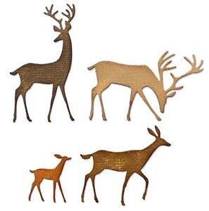 Sizzix Thinlits Darling Deer #664968 4pk set Retail $12.99 by Tim Holtz