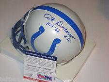 ART DONOVAN Signed COLTS Chrome Mini-helmet w/ PSA COA & HOF Inscrp - Ltd Ed.