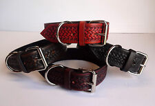 Hand Stamped Leather Dog Collar