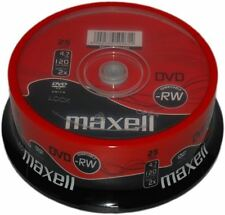 Maxell Dvd-Rw 120 Minutes 4.7gb Go 2x Vitesse Enregistrable Disques Vierges -