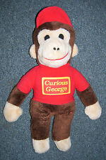 Curious George Stuffed Animal, 18 inches Tall Monkey Red Shirt & Hat Cap