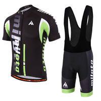 Men's Cycling Kit Short Sleeve Bike Cycle Jersey Top and (Bib) Shorts Set S-5XL