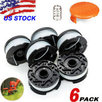 "6Pack For Black & Decker AF-100-3ZP 30ft .065"" Line String Trimmer Spool"