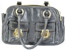 Marc Jacobs Black w/ Gold Detailing Handbag Purse W/ Three Large Compartments