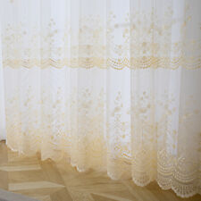 Guipure Floral Mesh Curtain Fabric Voile Gauze Window Panel Drape Divider Home