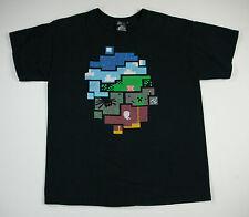 Thinkgeek Nine Circles of Minecraft Black T-Shirt Men's Size Large L