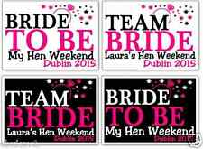 HEN NIGHT PARTY T SHIRT IRON ON TRANSFERS TEAM BRIDE RING ANY COLOUR TEXT A5