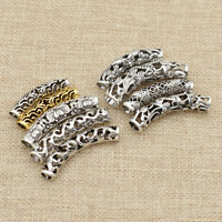 5Pcs/Lot Silver Golden Hair Dread Braids Dreadlock Beads Cuff Clip Hole Unisex