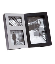 BLACK & SILVER Collage Foto con cornice contiene 3 foto