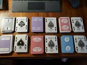 Las Vegas Casino Playing Cards Lot of 12 Decks Used in Casino