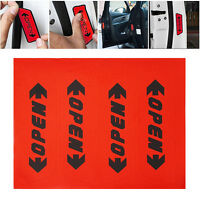 4x Red Door Open Decal Safety Warning Stickers Reflective Car Auto Accessories