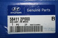 2x Original Hyundai Disques de Frein Arrière pour Hyundai & Kia / 58411-2P000