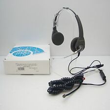 Plantronics P101-U10P Encore Binaural Polaris Voice Tube Headset for Desk Phones