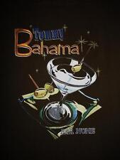 TOMMY BAHAMA HAWAIIAN SHIRT EMBROIDERED BAR NONE BROWN!SIZE L!100%SILK