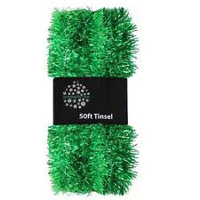 Christmas Tree 50ft x 3cm Tinsel GREAT VALUE - Green