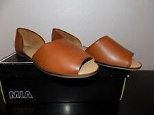 Mia Luggage Vegan Women's brown Flats Size 6 Med New NIB