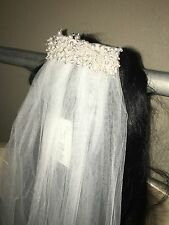 Davids Bridal One Tier Cathedral Veil with Pearl Comb White GR002 NWT $129