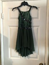 Green Child Large Ice Skating Dress