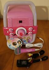Disney Princess Karaoke Machine Flashing Lights Fairy Tale CD Microphone