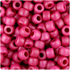 500 Burgundy Red Matte 9x6mm Barrel Pony Beads USA Made by The Beadery