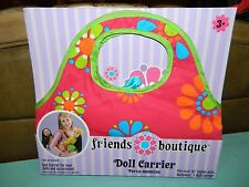 """Friends Boutique 18"""" Doll Carrier Our Generation AG Pink Floral NEW IN PACKAGE!"""
