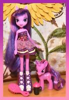 "❤️My Little Pony MLP Equestria Girls Twilight Sparkle 3"" Brushable Doll Set❤️"