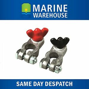 Battery Terminals Lead 10mm Positive & 8mm Negative Terminals  Marine Car 705621