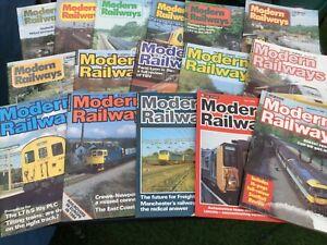 MODERN RAILWAYS MAGAZINES - 16 ISSUES - 1980 - 1985 - REDUCED