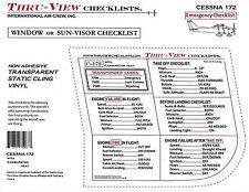 Thru-View Emergency Aviation Checklist - Cessna 172 - Carbureted