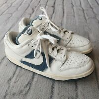 Vintage Nike Dunk Low Pro B Denim Shoes 624044-114 Size 9.5 Skate SB 2003