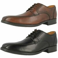 Mens Clarks Kalden Vibe Brown Or Black Leather Smart Lace Up Shoes