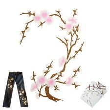 Large light pink flower iron on patch Sakura plum blossom spring iron-on patches