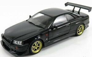 DIECAST 1/18 GREENLIGHT ARTISAN 1999 NISSAN SKYLINE GT-R GTR R34 IN BLACK #19030