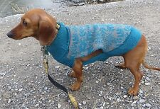SMALL dog SWEATER NWT Blue snowflake Gray World Market NEW knit crochet S cute