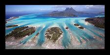 Poster Panorama Bora Bora French Polynesia Mount Otemanu Pahia Fine Art Print