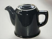 VERY CUTE VINTAGE CHEFSWARE 1 SERVING #41 BLACK TEA POT W UNUSUAL LID SHOWPIECE
